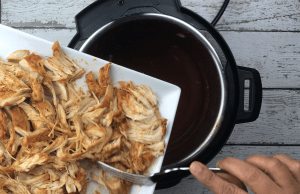 Pulled Chicken Fajita tacos Instant Pot