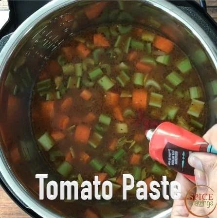 Adding tomato paste to the instant pot