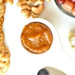 Peach Chutney served on a cheese board