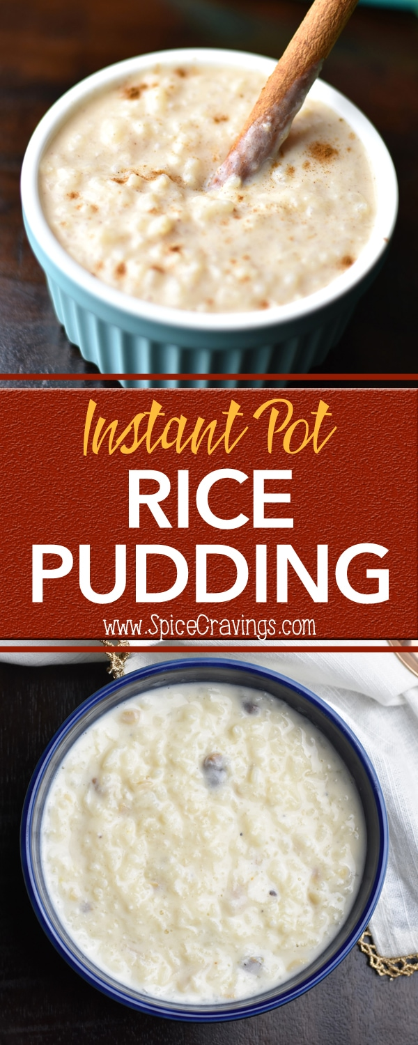 Rice Pudding / Kheer in Instant Pot by Spice Cravings. Rice Pudding or Kheer is a popular dessert from the northern Indian cuisine made by cooking rice with milk and sugar, enhanced by cardamom or saffron.  I also have the recipe for a Mexican variation called Arroz con leche pudding #food #foodie #foodblogger #delicious #recipe #instantpot  #recipes #easyrecipe  #cuisine  #30minutemeal  #instagood #foodphotography #tasty