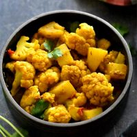 Spiced potato and cauliflower made in Instant pot, aloo gobi