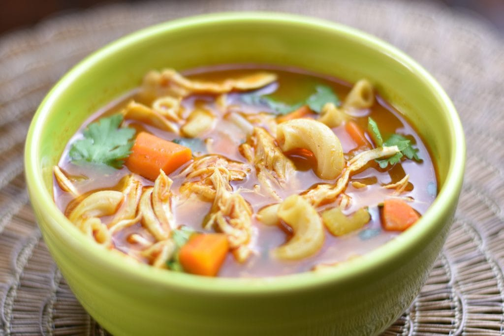Instant pot Chicken Noodle Soup with Ethiopian spices by Spice Cravings. This classicChicken Noodle soupis made by simmering chicken andvegetables, such as carrots and celery, spices, herbs and smallnoodles in chicken broth. This recipe uses the Ethiopian Spice blend called Berbere Seasoning to enhance the flavor and made in an instant pot. #food #foodie #foodblogger #delicious #recipe #instantpot #recipes #easyrecipe #cuisine #30minutemeal #instagood #foodphotography #tasty