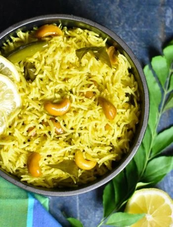 Indian flavored Instant Pot lemon rice