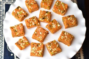 Instant Pot Carrot Burfi or Gajar Burfi or Fudge