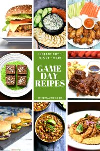 A collection of game day recipes for the Instant pot, oven and stove-top