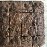 This simple 4-Ingredient Brownie recipe has just all-purpose flour, nutella (Hazelnut Spread), eggs and chocolate chips. By Spice Cravings #cooking #food #recipe #recipes #foodphotography #foodblogger #yummy #delicious