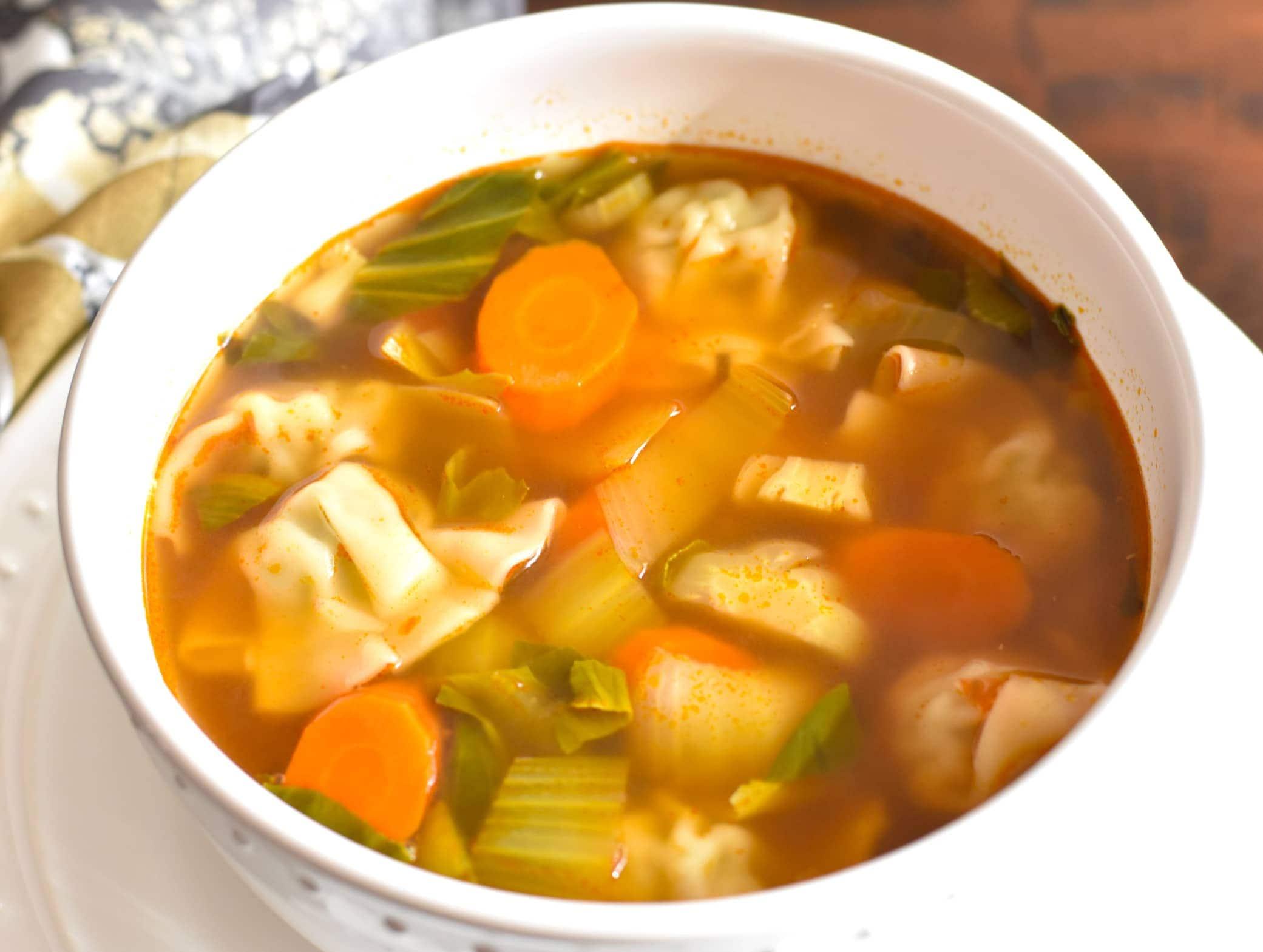 Instant Pot Chicken Wonton Soup