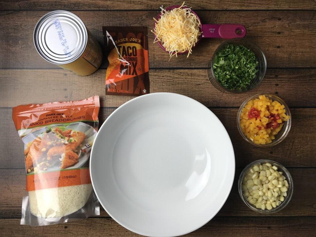 Ingredients for making Veggie burger