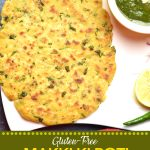 Pinterest image for Makki Ki Roti, seasoned cornmeal flatbread