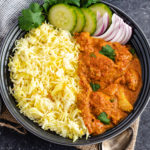 Easy Butter Chicken with Saffron Rice