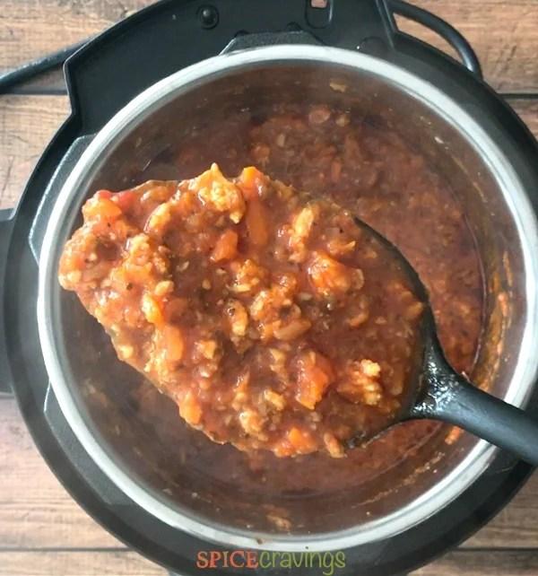 pasta sauce in instant pot
