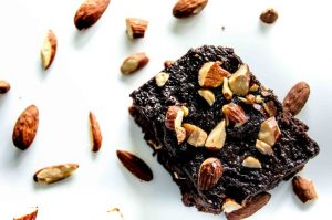 Chocolate Frosted Almond Brownies