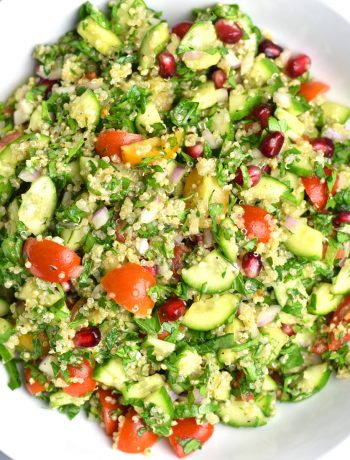 Quinoa Tabbouleh Salad, Gluten Free Tabbouleh Salad by Spice Cravings. Tabbouleh is a Middle Eastern vegetarian salad traditionally made with Bulgar wheat. In this Quinoa Tabbouleh Salad, I replace Bulgar with quinoa, which makes the Tabbouleh gluten-free, hearty and protein-rich. #cooking #food #recipe #recipes #foodphotography #foodblogger #yummy #delicious #foodie