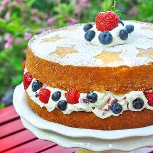Red White Blue Cake