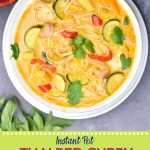 Pinterest pin for Thai red curry soup recipe