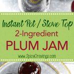 Jars with homemade plum jam
