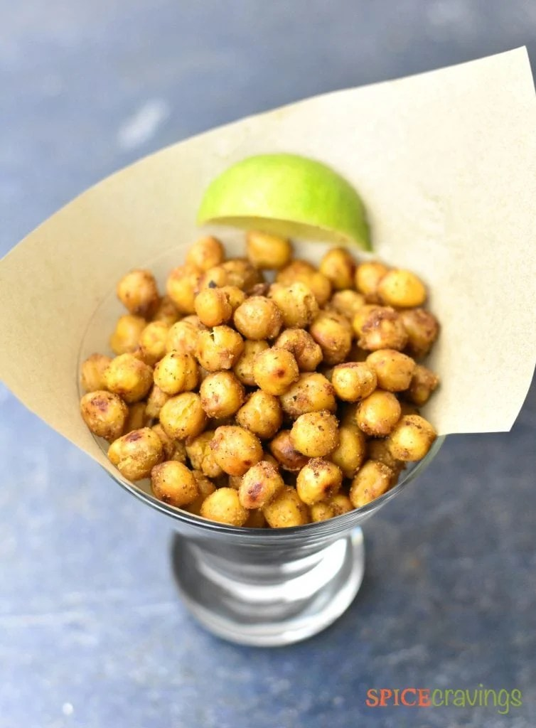Indian Spiced Oven Roasted Chickpeas
