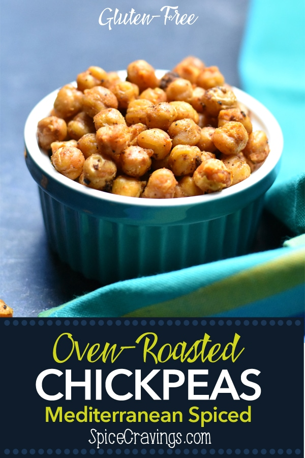 Gluten-Free Mediterranean spiced oven roasted chickpeas by Spice Cravings