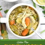 Pinterest image for Instant Pot Chicken Noodle Soup (Gluten Free)