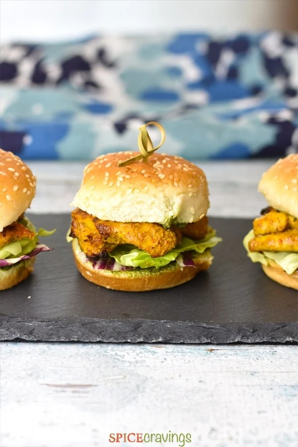 Perfect for Game Day recipes- Tandoori Chicken Sliders