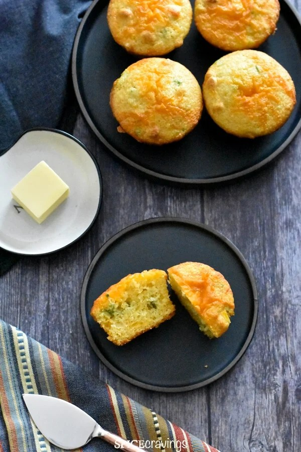 Jalapeno Cornbread served with a side of butter