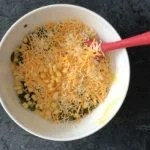 Add corn, cheese to mix in the Jalapeno Cheddar Cornbread recipe