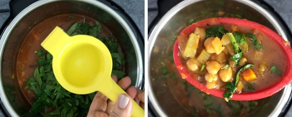 Step by step pictures showing how to cook Moroccan Soup in Instant Pot