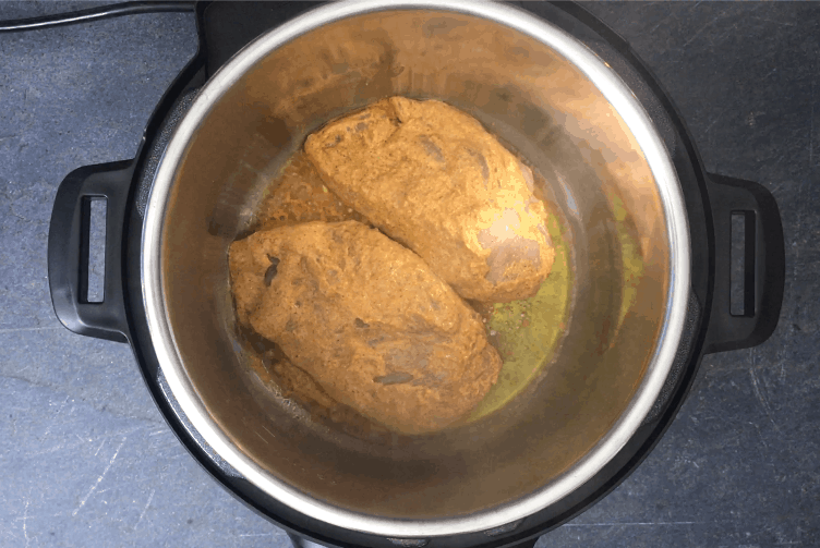 Cooking chicken in the Instant Pot for tikka masala