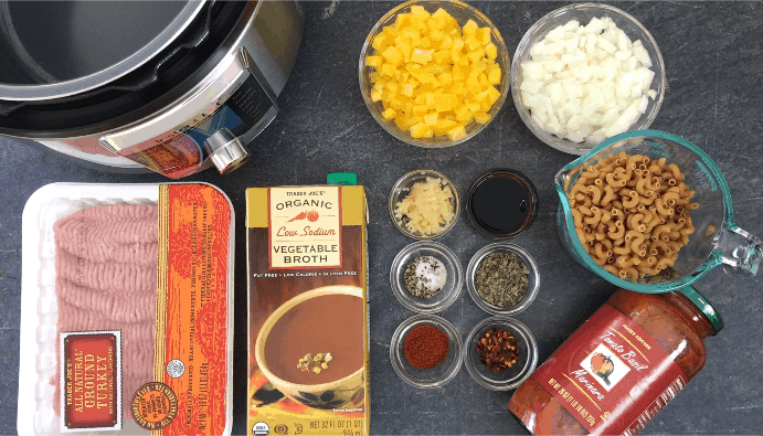 Ingredients to make Goulash in Instant Pot
