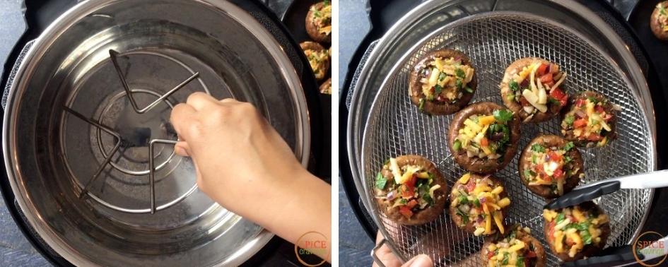 Cooking mushrooms using Mealthy Crisplid