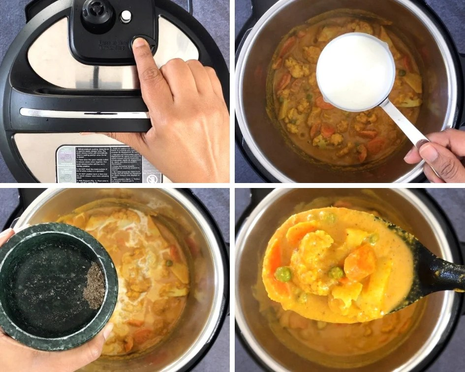 Step by step instructions on how to make Vegetable Korma in Instant Pot