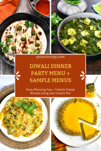 Indian Recipe collection for Diwali or any Indian Dinner Party