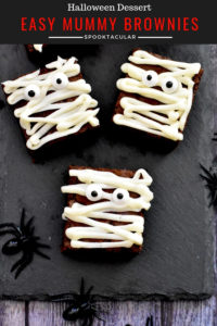 Chocolate Brownies decorated for halloween