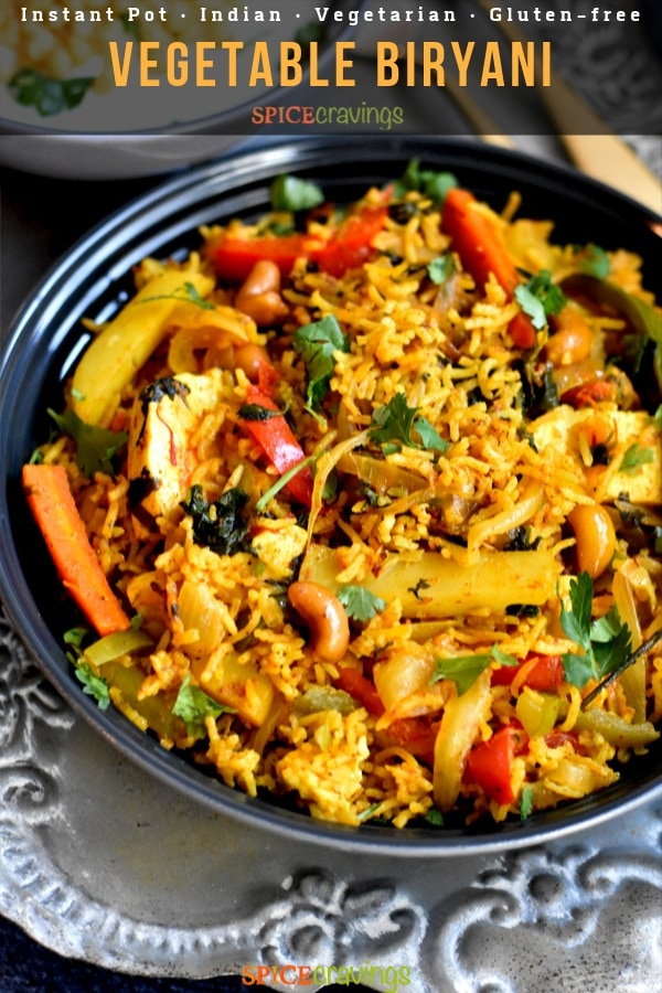 Indian rice Pilaf with potatoes, peppers and carrots