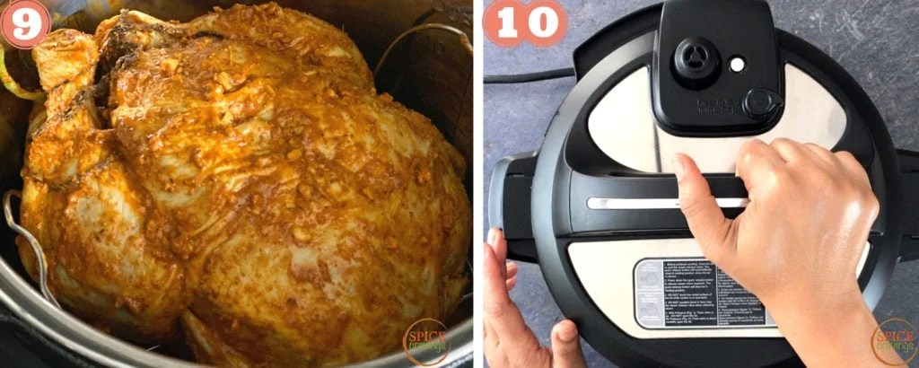 Pressure cooking the whole chicken in Instant Pot