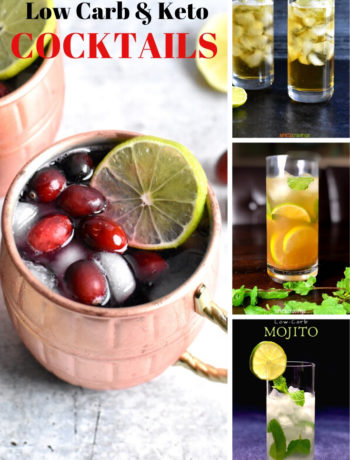 A collection of low carb and keto friendly cocktails