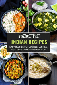 A picture collage of 4 Instant recipes made in the Instant Pot