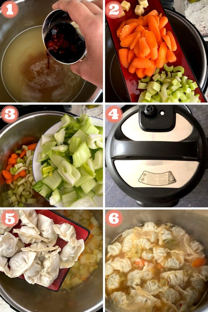 step by step photos of making wonton soup