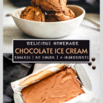 no churn chocolate ice cream pinterest graphic