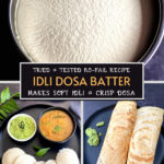 idli dosa batter pinterest graphic