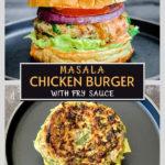 masala chicken burgers pinterest graphic