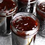 Mason jar filled with jam