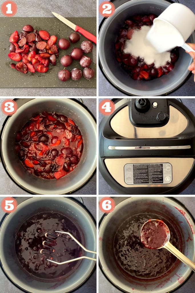 Step by Step instructions on how to make Plum Jam