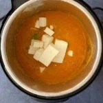 paneer cubes in tomato masala sauce in instant pot