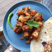 Sukha Aloo - Punjabi spiced potatoes