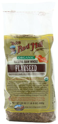 Bob's Red Mill Organic  Whole Flaxseed Brown, 24-Ounce Packages (Pack of 4)