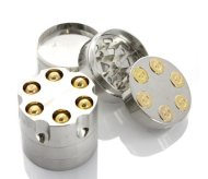2″ Aluminum 3 Piece Tobacco Spice Herb Revolver Bullet Grinder – Fun Novelty Mill Tool