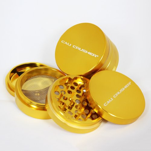 Large Authentic Cali Crusher Ultra Premium Herb Grinder 4 Piece GOLD (CC-7-GL)