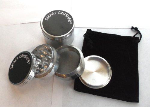 "NEW 4 pcs SMART CRUSHER® 2.0 "" Spice Pollen Tobacco Kitchen Grinder & Pouch"