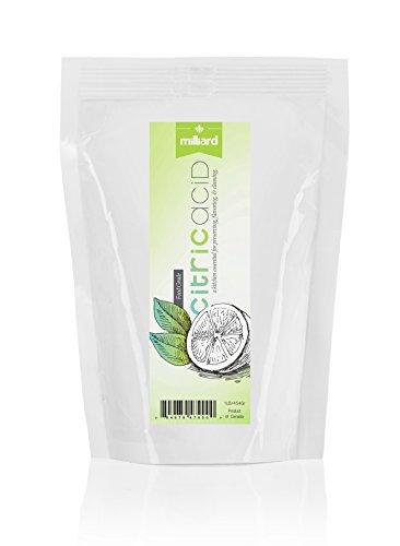 MILLIARD 100% Pure Food Grade Citric Acid, 1lb.